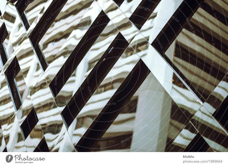 Die Gebäudereflexion in den Fenstern Leben Ferien & Urlaub & Reisen Tourismus Ausflug Haus Spiegel Büro Landschaft Architektur Fassade Straße modern gespiegelt
