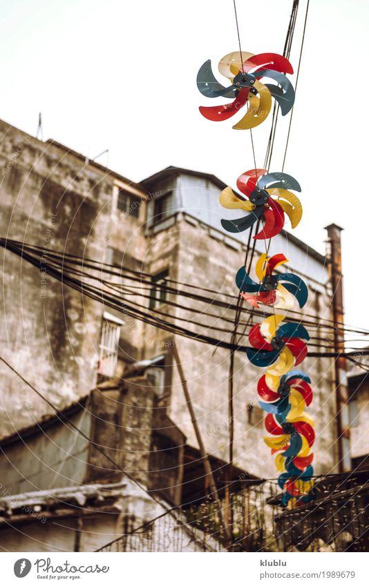 Eine typische Straßenansicht in Macao, China Design Leben Ferien & Urlaub & Reisen Tourismus Haus Kultur Gebäude Architektur Verkehr Fußgänger Bewegung