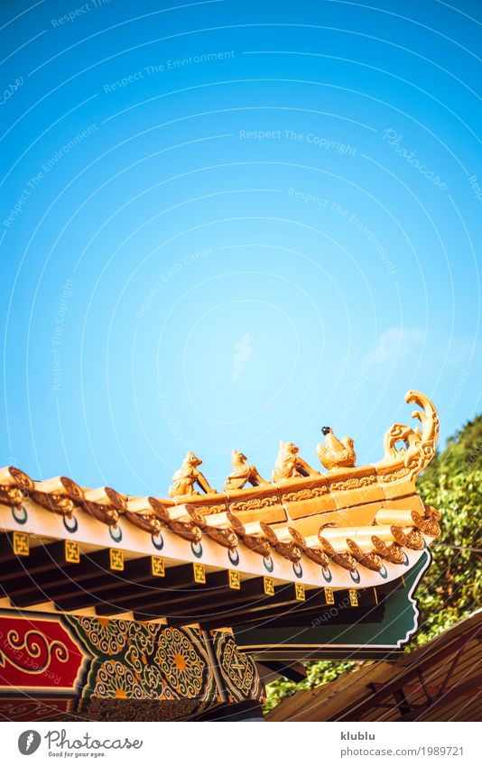 Das Dach des buddhistischen Tempels Stil Design schön Ferien & Urlaub & Reisen Dekoration & Verzierung Kultur Platz Gebäude Architektur Ornament alt historisch