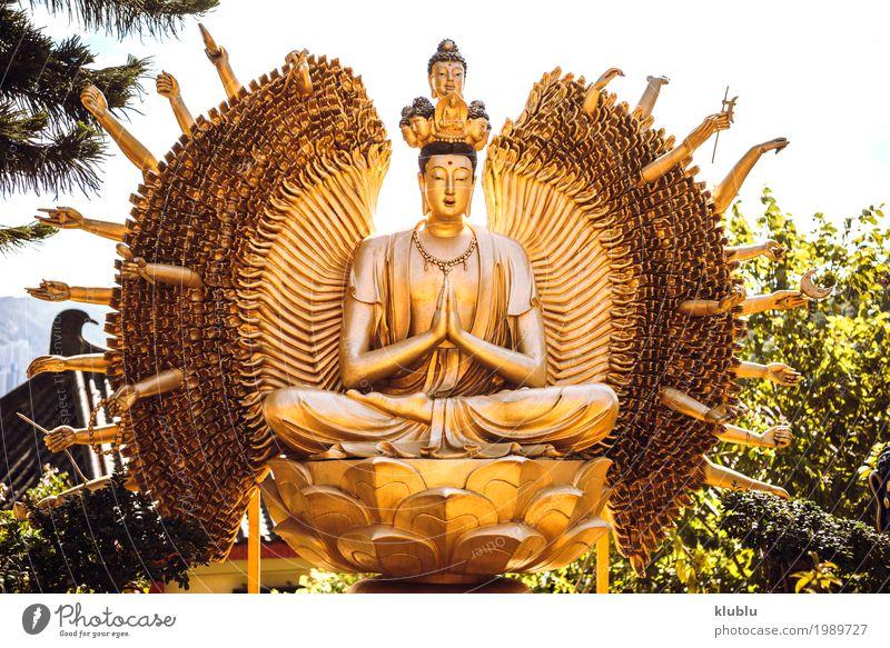 Tempel in Hong Kong schön Gesicht Ferien & Urlaub & Reisen Tourismus Dekoration & Verzierung Kunst Kultur Architektur Denkmal Straße Wege & Pfade