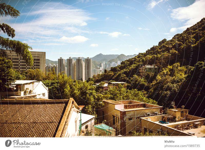 Hongkong ist eine internationale Metropole. Ferien & Urlaub & Reisen Landschaft Haus Architektur Straße Leben Gebäude Tourismus Fassade Ausflug Büro modern