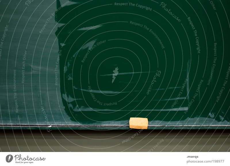 Reset grün Schule Angst frisch lernen Studium Kommunizieren Reinigen Sauberkeit Bildung Wissenschaften Tafel feucht Zukunftsangst Berufsausbildung Schwamm