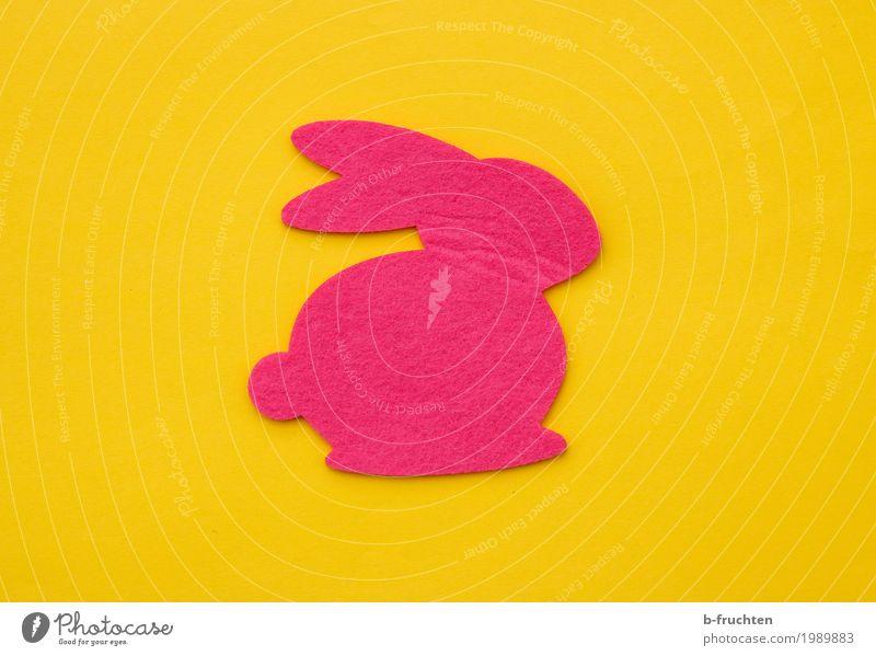 Häschen Feste & Feiern Ostern Papier trendy lustig feminin gelb rosa Freude Frieden osterhase Filz Stoff Dekoration & Verzierung Frühling Religion & Glaube