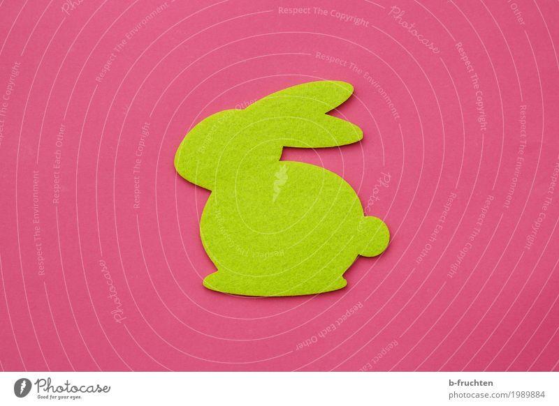 Osterhäschen Feste & Feiern Karneval Ostern Jahrmarkt Papier grün rosa Filz Hase & Kaninchen Osterhase Basteln Freude Religion & Glaube spaßig Einsamkeit