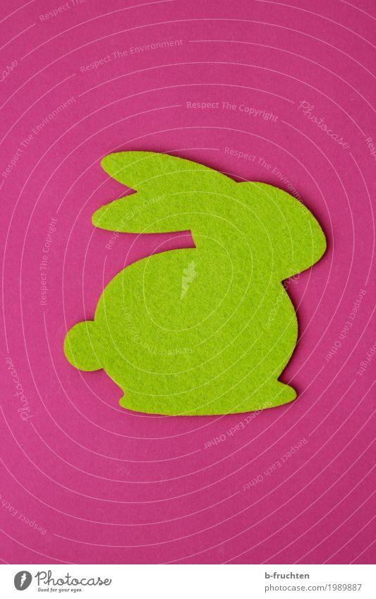 grüner Hase Feste & Feiern Ostern Jahrmarkt Papier bauen rosa Religion & Glaube Osterhase Filz Stoff filzhase Strukturen & Formen hasenform Tradition rot