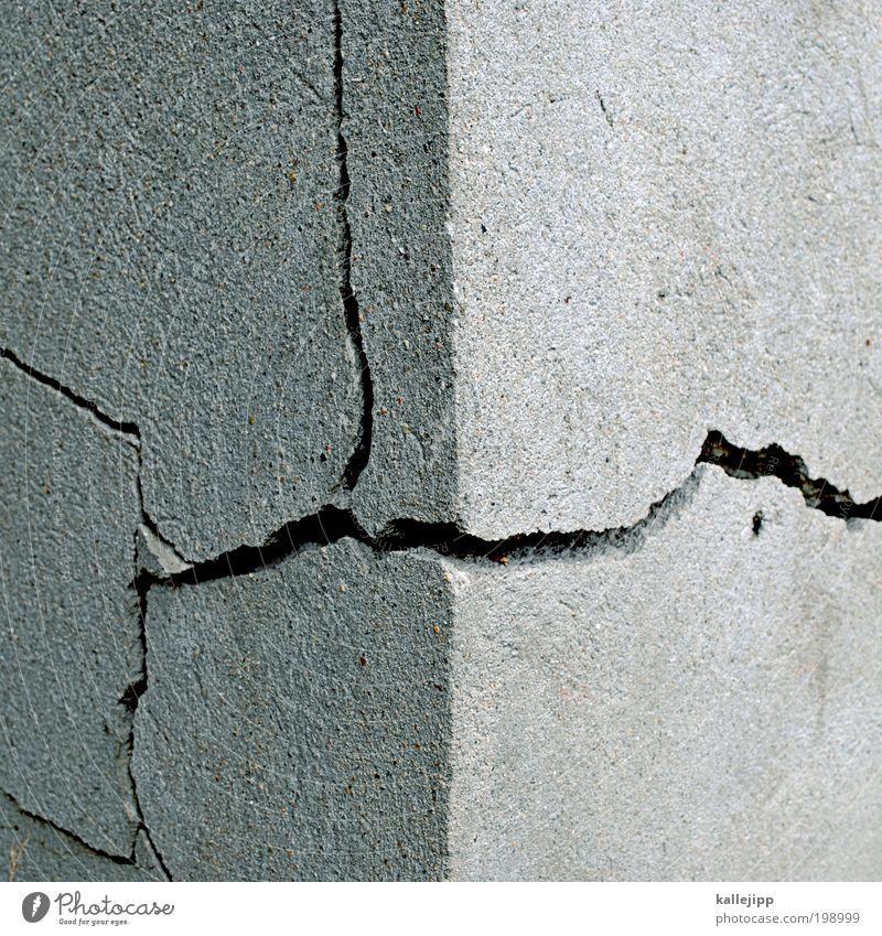 wall street Wand Architektur Gebäude Mauer Linie Energiewirtschaft Europa bedrohlich Baustelle Geldinstitut Bauwerk Riss Wirtschaft Euro sparen Aktien