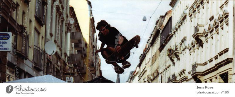 jump springen Skateboarding Momentaufnahme Schleswig-Holstein Neustadt