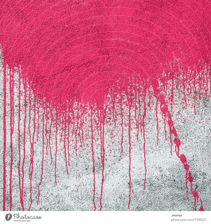 Ablauf Lifestyle Stil Feste & Feiern Anstreicher Mauer Wand Fassade Beton Graffiti Linie leuchten Coolness einfach trendy verrückt wild rosa Gefühle Euphorie