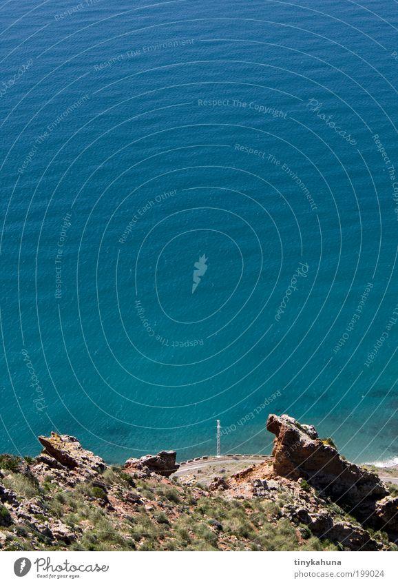 Cabo de Gata Meer blau Sommer Ferien & Urlaub & Reisen ruhig Ferne Straße Erholung Freiheit träumen Landschaft Wellen Küste einfach Unendlichkeit Verkehrswege