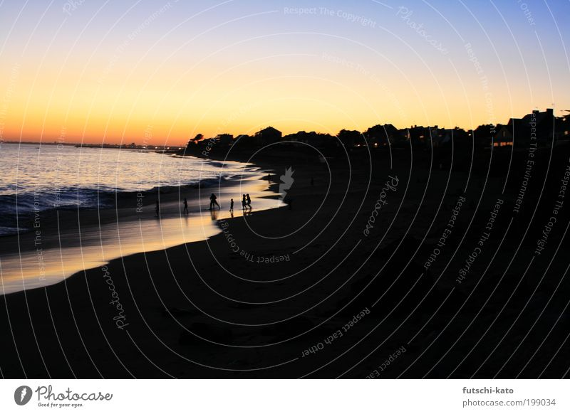 Strandlauf Wasser Himmel Sonne Meer Sommer Freude Strand Ferien & Urlaub & Reisen Ferne Leben Freiheit Glück Wärme Sand Landschaft Wellen
