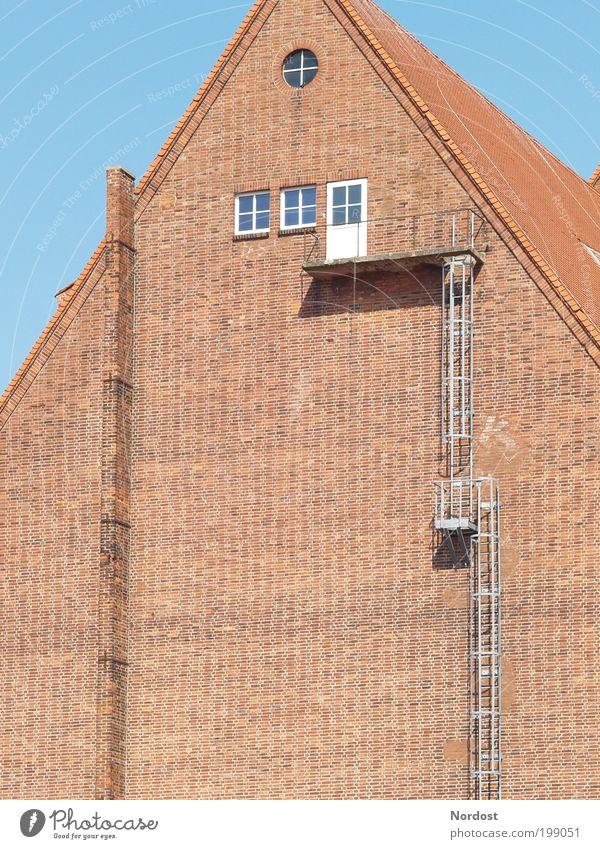 Steiler Weg Einsamkeit Wand Mauer Gebäude Tür Treppe Sicherheit Turm Macht Bildung Sehnsucht Leiter Wirtschaft Karriere Stolz Berufsausbildung