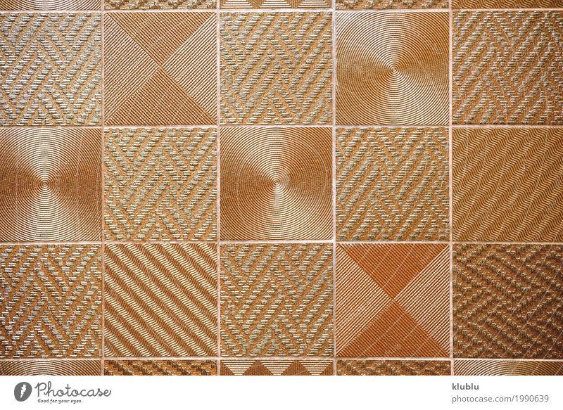 Unterschiedliches strukturiertes Quadrat Design Dekoration & Verzierung Kunst Ornament außergewöhnlich gold Wand Konsistenz Sortiment Linien geometrisch