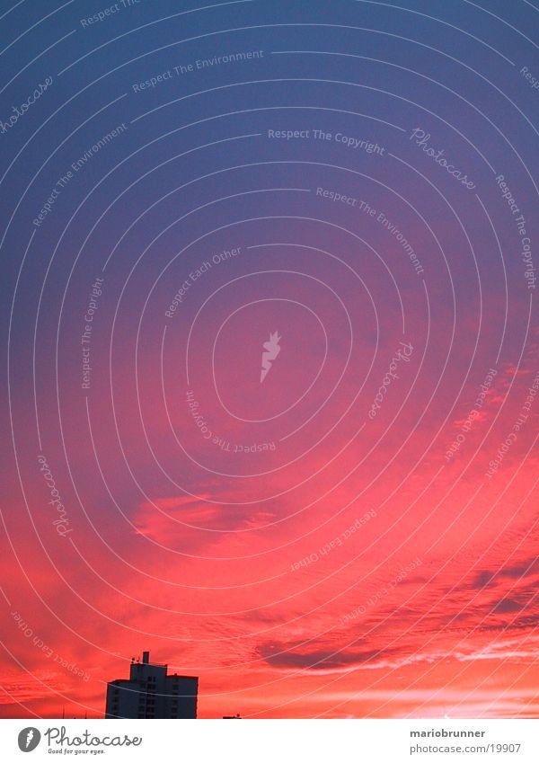 fb-sun_02 Sonnenuntergang rot Wolken Himmel fellbach Abenddämmerung Brand