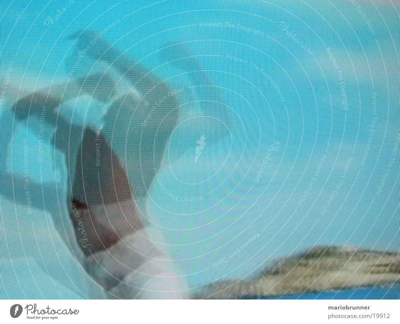 move blau Bewegung Tanzen Streifen Tänzer Fototechnik hell-blau