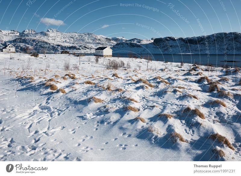2 Häuser am Fluß Natur Ferien & Urlaub & Reisen blau weiß Ferne Winter Berge u. Gebirge schwarz Umwelt Schnee Freiheit Tourismus grau Freizeit & Hobby Ausflug