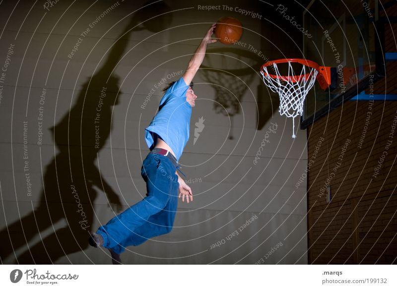 Dunk Jugendliche Erwachsene Leben Sport Bewegung springen Freizeit & Hobby fliegen maskulin Erfolg verrückt außergewöhnlich Coolness Ziel 18-30 Jahre Fitness