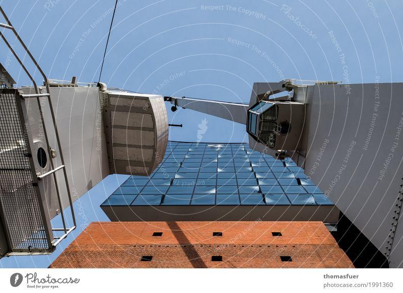 von oben herab Ferien & Urlaub & Reisen blau Stadt Architektur Gebäude grau Tourismus orange Design Ausflug Glas Kultur hoch Hamburg Güterverkehr & Logistik