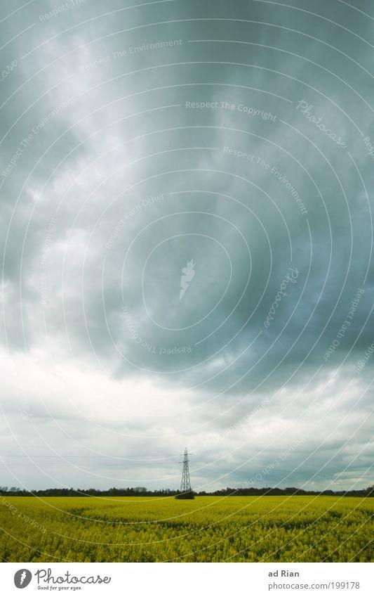 unter Strom Natur Wasser Himmel Wolken Landschaft Feld Wind Wetter Umwelt Energie Bauernhof Landwirtschaft Unwetter Arbeitsplatz Raps schlechtes Wetter