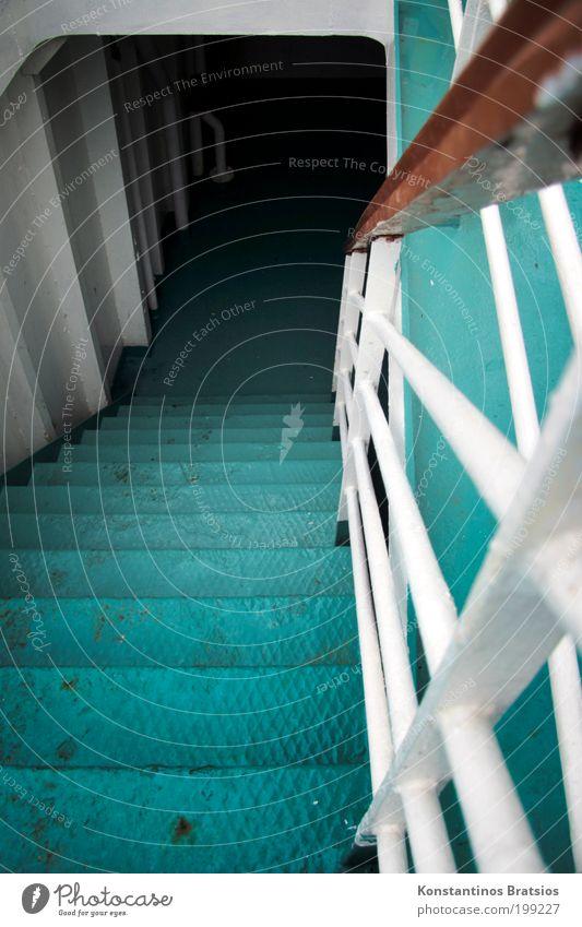 bei Nässe gut festhalten Ferien & Urlaub & Reisen Metall Wasserfahrzeug Treppe Ausflug Tourismus Geländer Schifffahrt Treppengeländer Glätte abwärts Erschöpfung