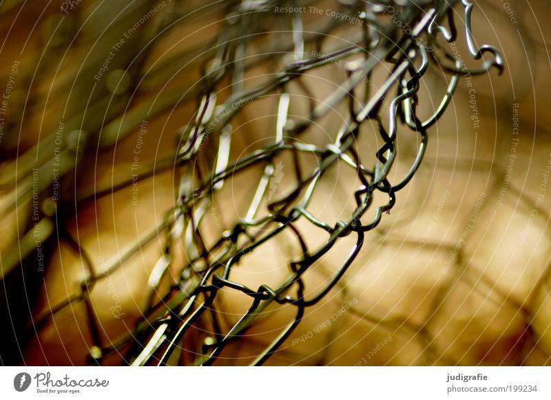 Maschendraht Metall alt bedrohlich glänzend kaputt stachelig Schutz Wachsamkeit Respekt bizarr Freiheit Hoffnung Netzwerk rebellieren Verbote Vergänglichkeit