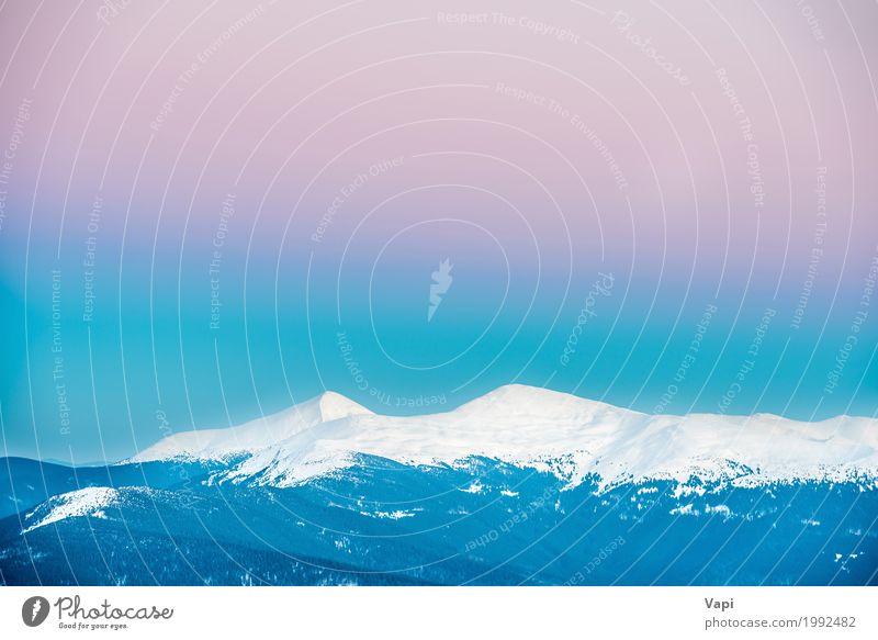 Himmel Natur Ferien & Urlaub & Reisen blau schön grün weiß Landschaft rot Ferne Winter Berge u. Gebirge Umwelt natürlich Schnee Tourismus