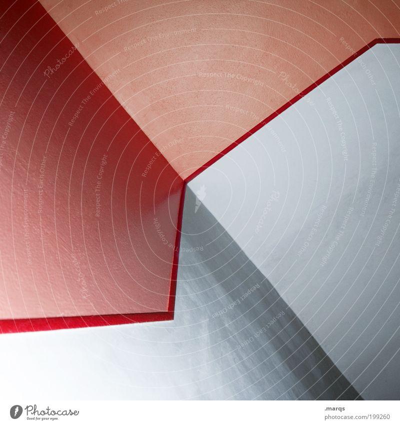 Meet me Halfway rot Wand Stil Mauer Linie Architektur Design Lifestyle ästhetisch rein Muster Grafik u. Illustration Wirtschaft positiv trendy abstrakt