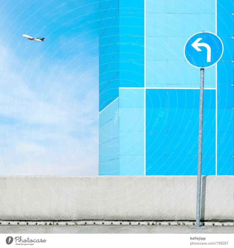 fluglotse Himmel blau Sommer Ferien & Urlaub & Reisen Ferne Freiheit Schilder & Markierungen Ausflug Flugzeug fliegen Verkehr Tourismus Klima Lifestyle