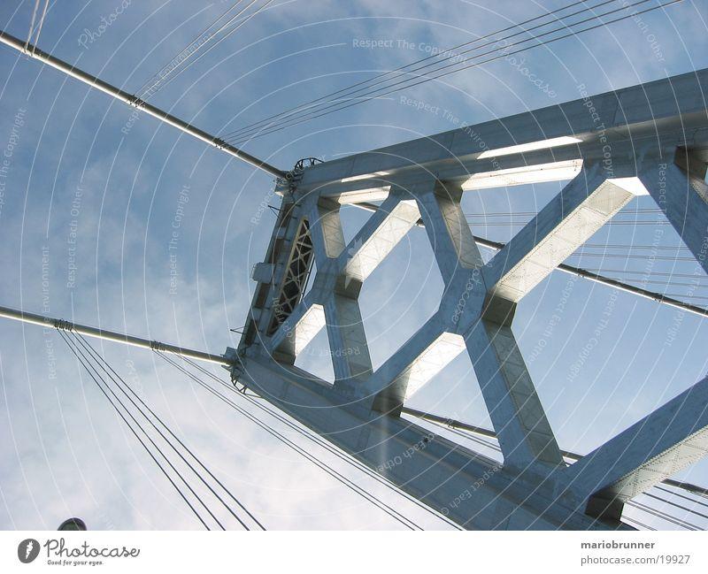 baybridge San Francisco Kalifornien Verkehr Stahl Hängebrücke Architektur Brücke USA Straße Autobahn Seil Oakland Bay Bridge