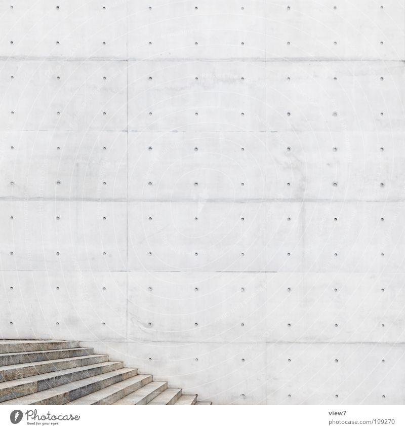 Sichtbeton Stadt Wand grau Stein Mauer Linie Architektur elegant Beton Fassade Perspektive Treppe modern Ordnung ästhetisch