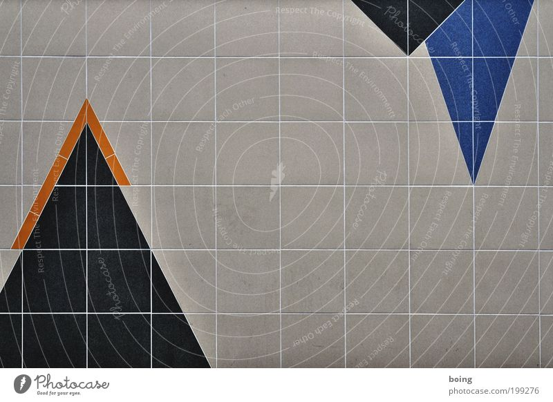 Pikes Peak Dekoration & Verzierung Handwerk Mauer Wand Ornament Spitze Fliesen u. Kacheln Geometrie Quadrat Dreieck Raster Mosaik Muster Textfreiraum aufwärts