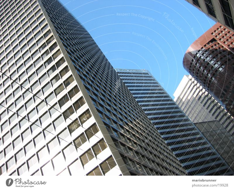 san_francisco_01 San Francisco Stadt Hochhaus Bürogebäude Fenster Fassade Beton USA Glas Hochhausfassade Glasfassade aufwärts himmelwärts Froschperspektive