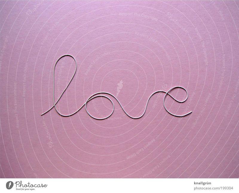 Ich war mal ein Unterhosengummi Gummiband Schriftzeichen rosa weiß Gefühle Glück Liebe Verliebtheit Romantik Partnerschaft bonbonrosa Resteverwertung Farbfoto