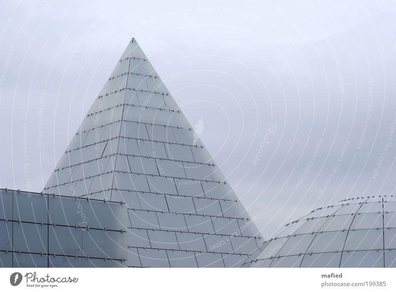 Gestalten 1. Semester blau Haus Wand Fenster grau Mauer Gebäude Metall Architektur Glas Design Fassade Ordnung Zukunft Dach