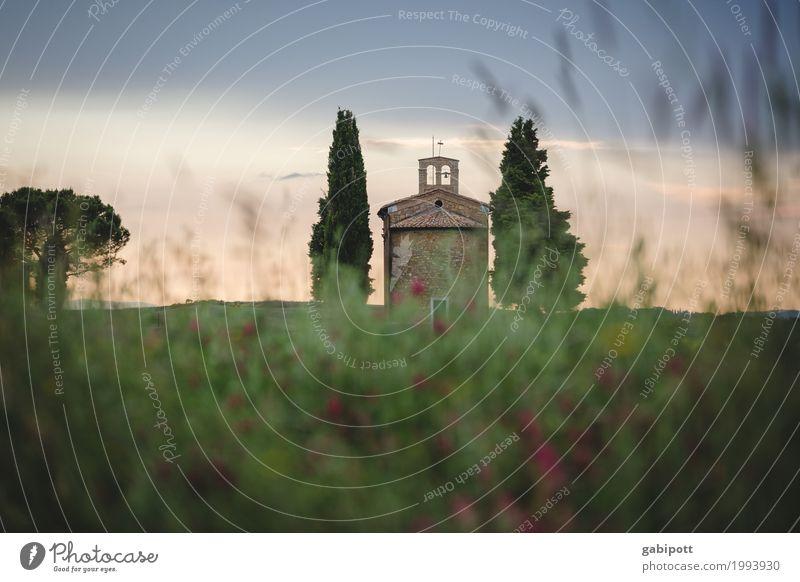 Vitaleta Kapelle, Val d'Orcia, Toskana, Italy Himmel Natur Ferien & Urlaub & Reisen Pflanze Sommer Landschaft Erholung ruhig Ferne Leben Umwelt Wiese Tourismus