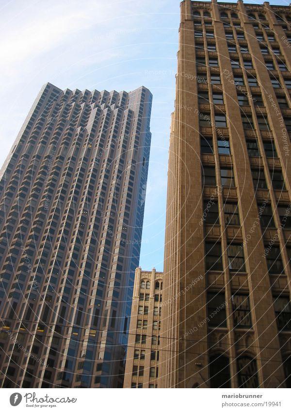 san_francisco_05 San Francisco Stadt Hochhaus Bürogebäude Fenster Fassade Beton USA Hochhausfassade aufwärts himmelwärts vertikal Architektur Zentralperspektive