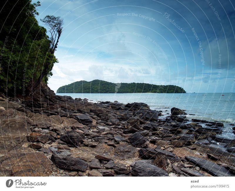 Insel Ferien & Urlaub & Reisen Tourismus Natur Landschaft Himmel Wärme Freude Coolness Farbfoto Außenaufnahme Menschenleer Tag Blick in die Kamera