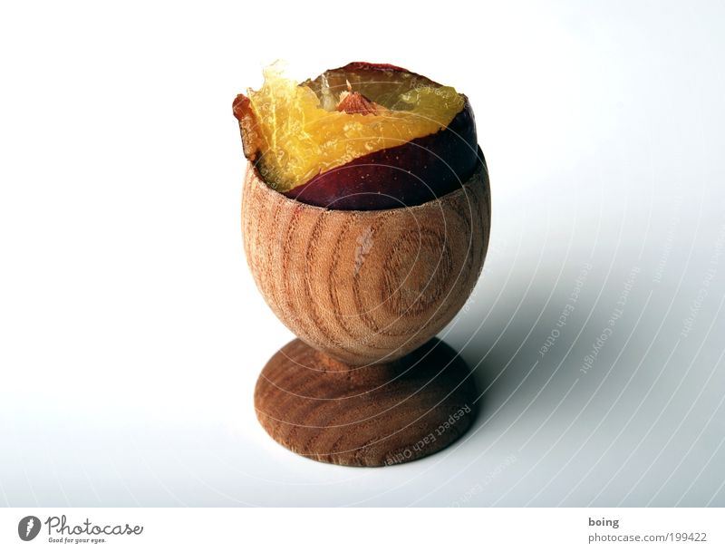 Frühstückszwetschge Frucht Dessert Pflaume Ernährung Diät Eierbecher Häusliches Leben süß Appetit & Hunger Kerne fruchtig Farbfoto