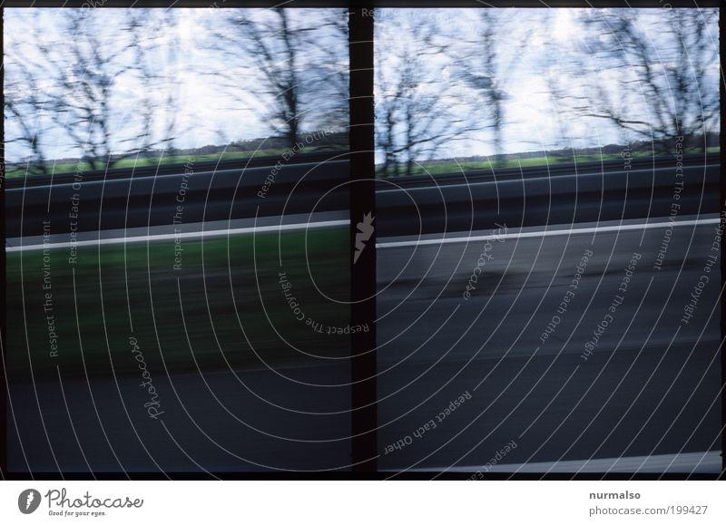 nu aber schnell . . . Lifestyle Freizeit & Hobby Rennsport Kunst Umwelt Verkehr Straße Wege & Pfade Autobahn Leitplanke Schilder & Markierungen Bewegung fahren