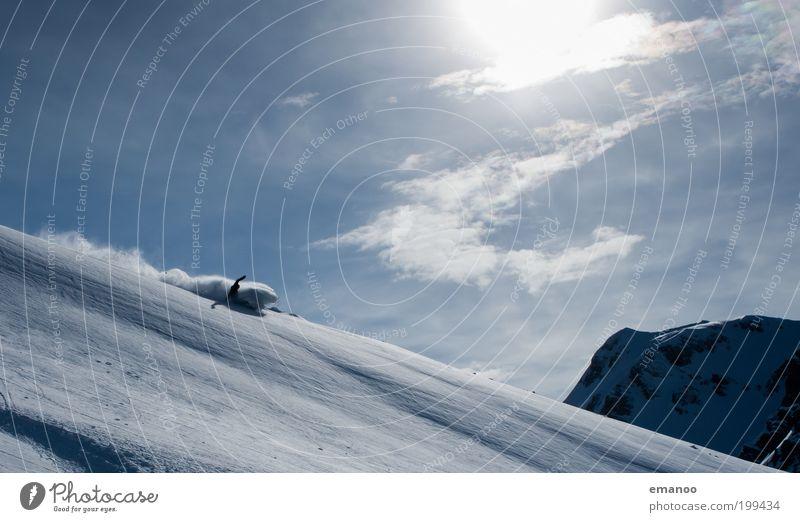 sun spray Lifestyle Freude Freizeit & Hobby Ferien & Urlaub & Reisen Freiheit Expedition Winter Schnee Winterurlaub Wintersport Skipiste Mensch maskulin 1 Natur