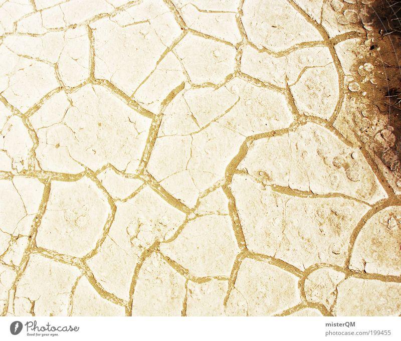 Sands of Time. Einsamkeit Wärme Sand Umwelt Zeit Erde ästhetisch trist Boden Klima Wüste heiß trocken Riss Staub Spalte