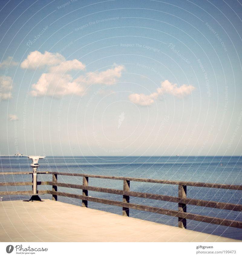weitblick Wasser Himmel Meer Sommer Ferien & Urlaub & Reisen Wolken Ferne Erholung Freiheit Landschaft Küste Umwelt Horizont Ausflug Zukunft