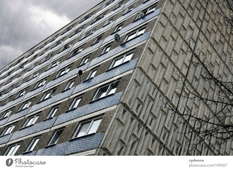 [HAL] Schöner Empfang Lifestyle Stil Design Häusliches Leben Stadt Haus Architektur Mauer Wand Fassade Fenster Einsamkeit Frustration Gesellschaft (Soziologie)