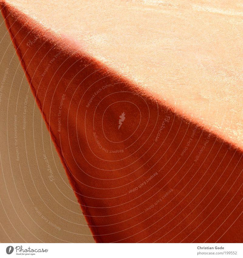Spitze rot orange Tisch Ecke Geometrie Dreieck Saum