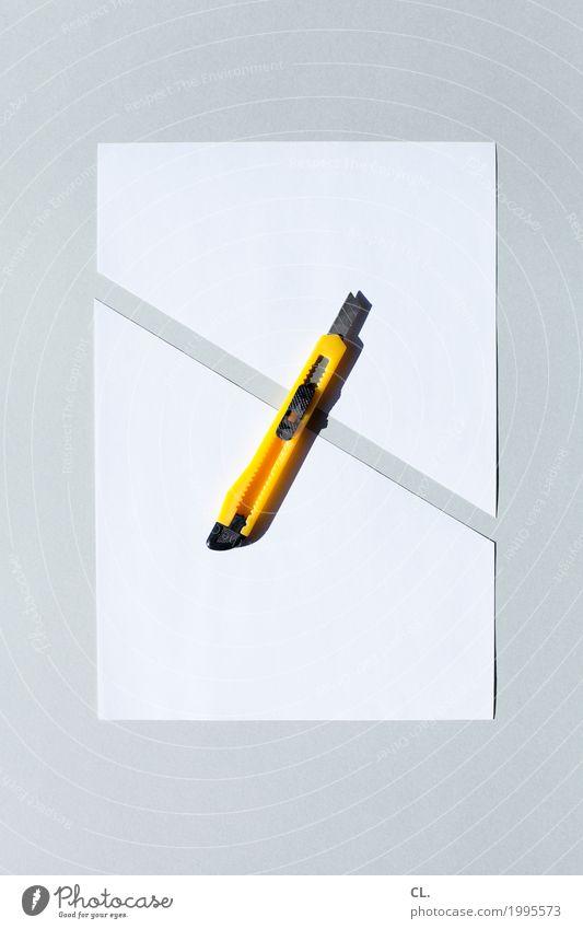 inkje edition / was zur verfügung stand / cutter weiß gelb Freizeit & Hobby Büro Papier Scharfer Gegenstand rein Arbeitsplatz Basteln Printmedien Präzision