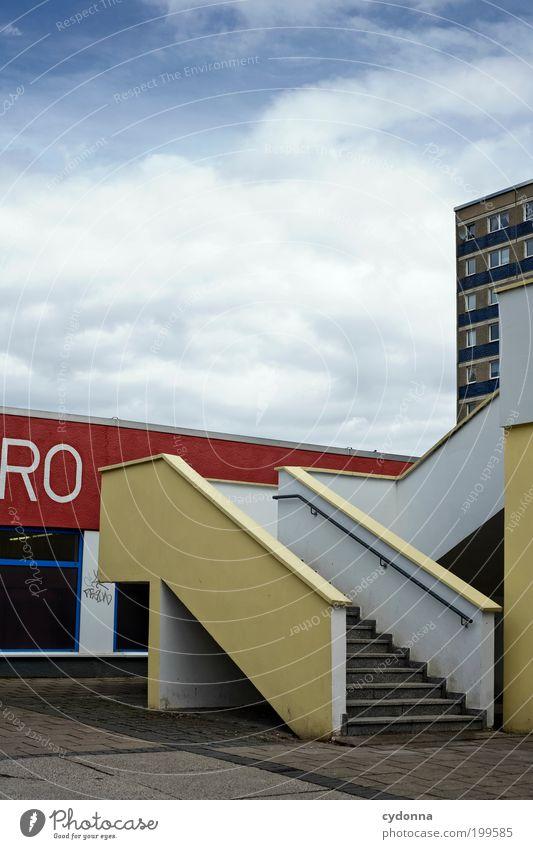 [HAL] RO Lifestyle Stil Design Himmel Stadt Platz Architektur Treppe Fassade Einsamkeit Frustration Gesellschaft (Soziologie) Langeweile Leben Perspektive