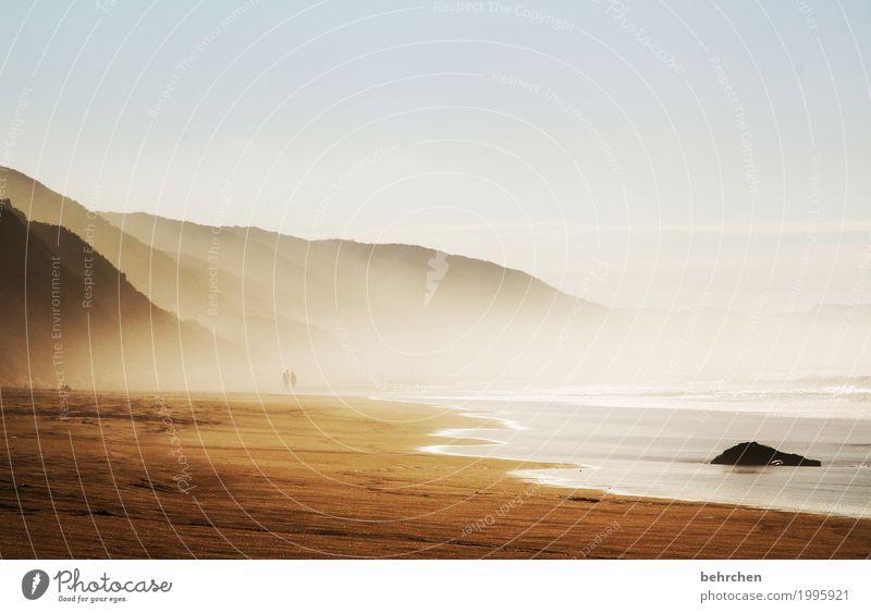 einfach sein Ferien & Urlaub & Reisen Tourismus Ausflug Abenteuer Ferne Freiheit Landschaft Himmel Wolken Nebel Hügel Berge u. Gebirge Wellen Küste Strand Bucht