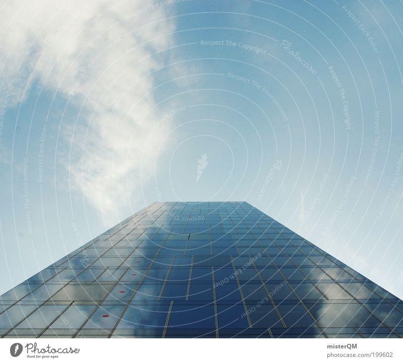 New Economy. Himmel blau Ferne Architektur Arbeit & Erwerbstätigkeit Fassade Hochhaus ästhetisch Wachstum Zukunft Macht Geldinstitut Bankgebäude Skyline