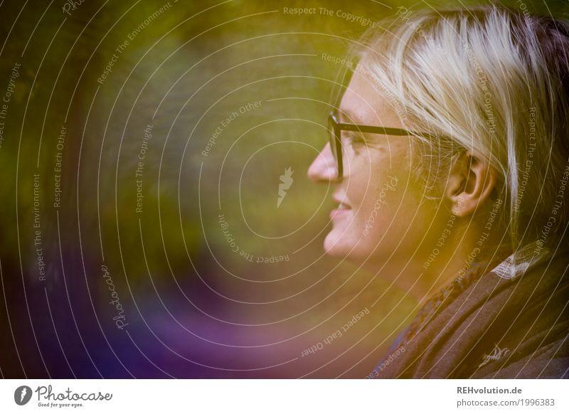 Jule | herbstspaziergang Mensch feminin Junge Frau Jugendliche Erwachsene Kopf Gesicht 1 18-30 Jahre Umwelt Natur Herbst Wald Brille Haare & Frisuren blond