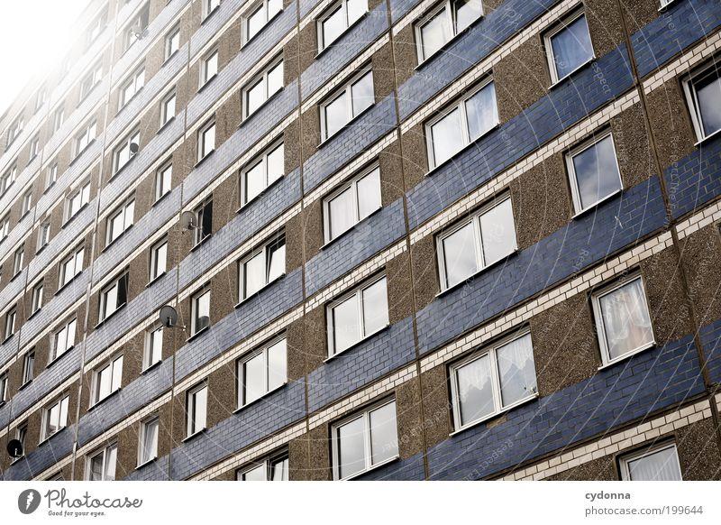 [HAL] Fenster zur Welt Lifestyle Stil Design Häusliches Leben Stadt Haus Architektur Fassade Bildung Einsamkeit Gesellschaft (Soziologie) Langeweile Misserfolg