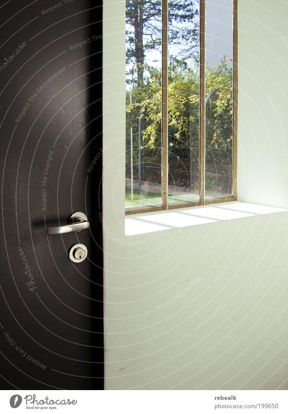 Das Fenster zum Garten Haus Fenster Architektur Tür elegant Sicherheit Ordnung ästhetisch Aussicht einfach beobachten Denkmal Bauwerk gefangen